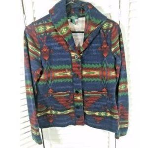 Ralph Lauren Jacket S Aztec Button Front